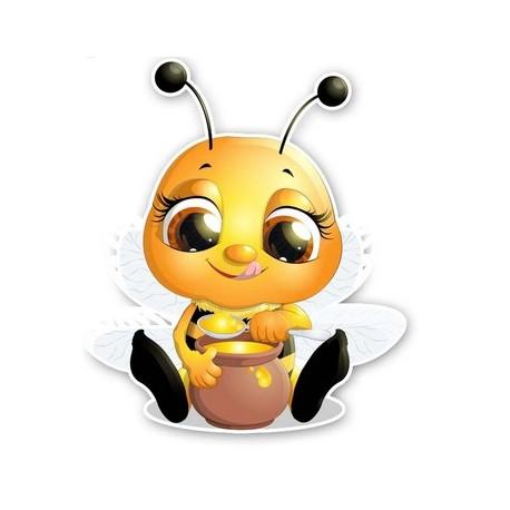 Autocollant abeille grande taille