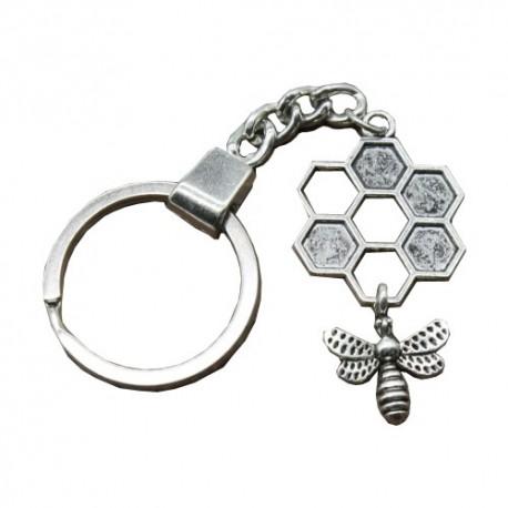 Porte clef abeilles acier